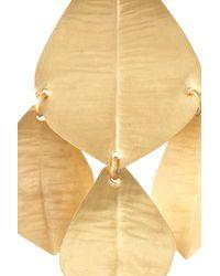 Kevia - Metallic 22karat Gold-Vermeil Petal Earrings - Lyst
