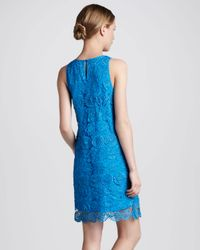 Madison Marcus - Blue Relaxed Lace Tank Dress - Lyst