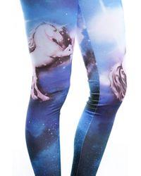 AKIRA - Blue Unicorn Galaxy Leggings - Lyst