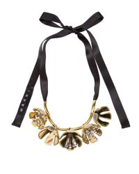 Marni | Metallic Flower Necklace | Lyst