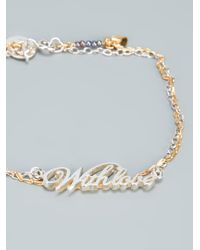 Alex Monroe - Metallic With Love Bracelet - Lyst