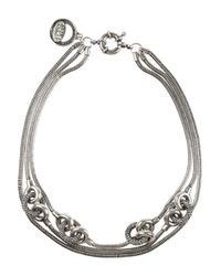 Giles & Brother | Metallic Short Archer Multichain Silverplated Necklace | Lyst