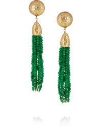 Rosantica - Green Cascata Jade Clip Earrings - Lyst