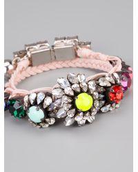 Shourouk | Pink Baraka Rococo Embellished Wrap Bracelet | Lyst