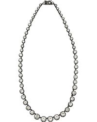 Kenneth Jay Lane | Metallic Rhodiumplated Cubic Zirconia Necklace | Lyst