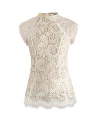 Lover | White Sara Lace Top | Lyst