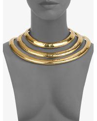 Aurelie Bidermann - Metallic Esteban Collar Necklace - Lyst