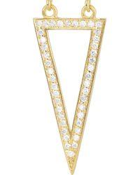 Halleh - Metallic 18karat Gold and Diamond Triangle Earrings - Lyst