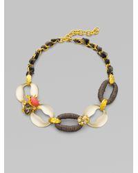 Alexis Bittar - Multicolor Ivory Coast Rose Quartz Coral Clustered Gem Link Necklace - Lyst