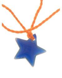 Aurelie Bidermann - Orange Star Charm Bracelet - Lyst
