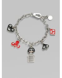 Marc By Marc Jacobs | Metallic Miss Marc and Friends Charm Bracelet | Lyst
