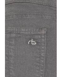 Rag & Bone - Gray Neonstriped Midrise Skinny Jeans - Lyst