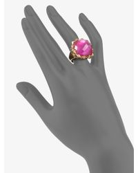 Stephen Webster - Pink Sapphire Quartz and Mother of Pearl Ring - Lyst