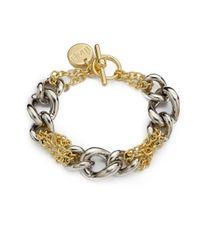 1AR By Unoaerre | Metallic Twotone Chain Bracelet | Lyst