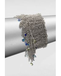 ABS By Allen Schwartz - Metallic Chain Stretch Bracelet - Lyst