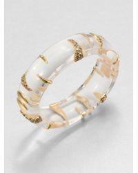 Alexis Bittar | Metallic Durban Stripe Lucite Bangle Bracelet | Lyst