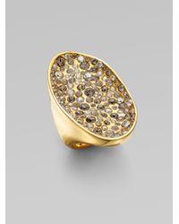 Alexis Bittar - Metallic Swarovski Crystal Encrusted Pool Ring - Lyst