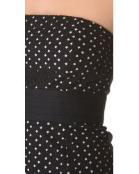 Catherine Malandrino - Black Strapless Eyelet Dress - Lyst