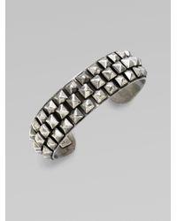 DANNIJO | Metallic Oxidized Silver Pyramid Bracelet | Lyst
