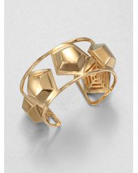 Eddie Borgo | Metallic Medium Hexagon Stud Cuff Bracelet | Lyst