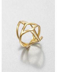 Eddie Borgo - Metallic Webbed Ring - Lyst
