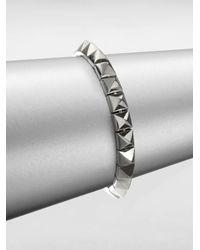 Eddie Borgo | Metallic Small Pyramid Bracelet/silvertone | Lyst