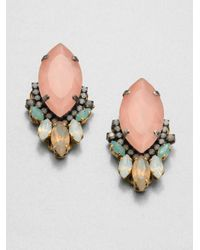Erickson Beamon | Multicolor Swarovski Crystal Cluster Earrings | Lyst
