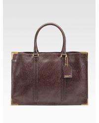 Fendi - Brown Classico No. 4 Leather Tote - Lyst