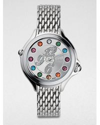 Fendi - Metallic Crazy Carats Diamond Bracelet Watch - Lyst