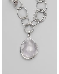 Ippolita | Metallic Clear Quartz Sterling Silver Enhancer | Lyst