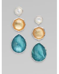 Ippolita - Metallic Motherofpearl and Clear Quartz Multicolor Sterling Silver Drop Earrings - Lyst