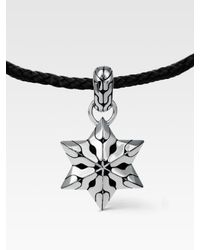 John Hardy - Black Silver Star Pendant Necklace for Men - Lyst