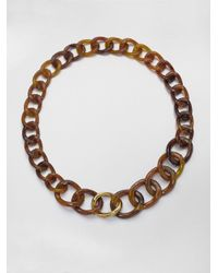 Kara Ross - Brown Tortoiselook Link Necklace - Lyst