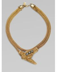Kara Ross | Metallic 14k Goldplated Snake Necklace | Lyst