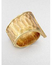 Kara Ross | Metallic Python Tail Cuff Bracelet | Lyst