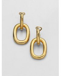 Kenneth Jay Lane | Metallic Polished Doorknocker Earrings | Lyst