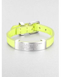 Marc By Marc Jacobs - Yellow Standard Supply Leather Id Bracelet - Lyst