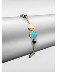 Marco Bicego | Blue Lapis Turquoise and 18k Yellow Gold Bracelet | Lyst