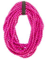 Monies - Pink Large Bead Necklace - Lyst