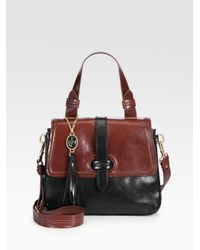 Nanette Lepore | Brown Two-tone Small Satchel | Lyst