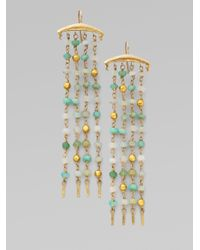 Padma - Metallic Peruvian Opal 14k and 18k Yellow Gold Earrings - Lyst