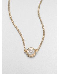 Phillips House | Metallic 14K Yellow Gold & Diamond Delicate Pendant Necklace | Lyst
