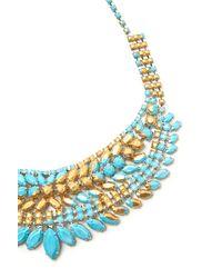 Tom Binns - Blue Gilded Pleasure Collar Necklace - Lyst
