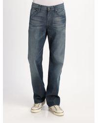 7 For All Mankind   Blue Austyn Simon Lake Straight-leg Jeans for Men   Lyst