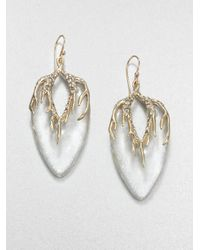 Alexis Bittar - Metallic Lucite and Crystal Drop Earrings - Lyst