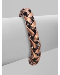 Bing Bang | Metallic Love Knot Chunky Chain Link Bracelet | Lyst
