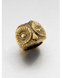 Burberry | Metallic Owl Ring | Lyst