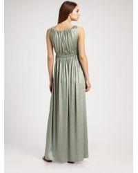 Callula Lillibelle - Blue Grecian Jersey Dress - Lyst