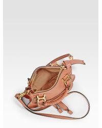 Chloé - Pink Mini Marcie Crossbody Bag - Lyst