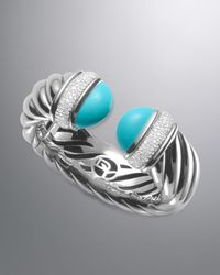 David Yurman | Silver Waverly Bracelet Turquoise | Lyst